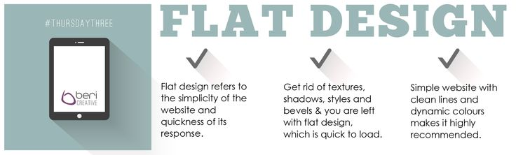 Flat design is here to stay for a while longer - here's what it's about. Oh, and we love it. #ThursdayThree