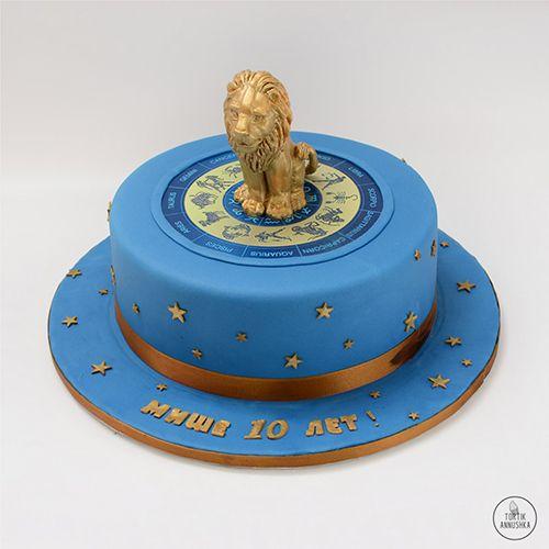 торт со знаком зодиака весы