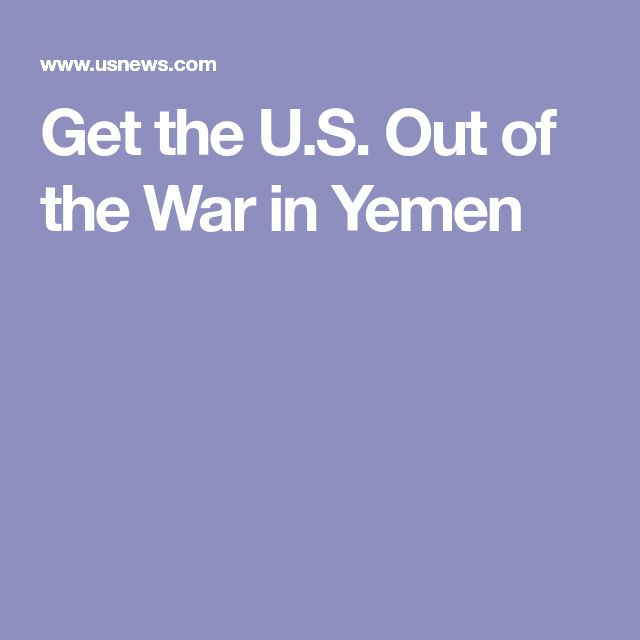 Get the U.S. Out of the War in Yemen   --   Bernie Sanders and his colleagues are right to call out America's role in Yemen's nightmare.