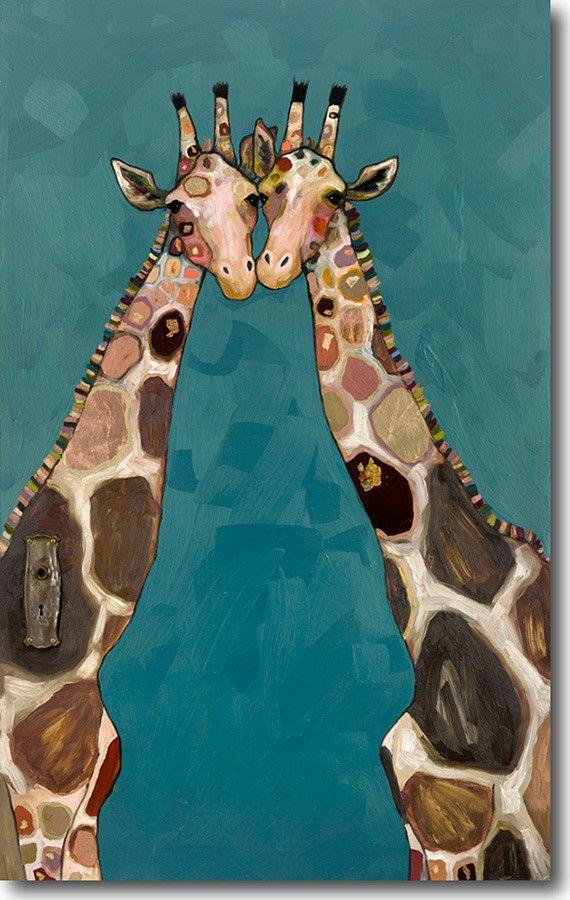 Цветами сердечками, рисунки жирафов прикольные
