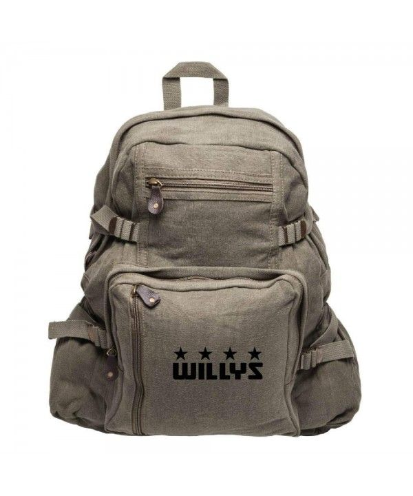 bbe21df654d Luggage & Travel Gear, Backpacks, Willys Jeep Freedom Stars Military Army  Sport Heavyweight Canvas Backpack Bag - Olive & Black - CJ12GSXQHQZ #Luggage  ...