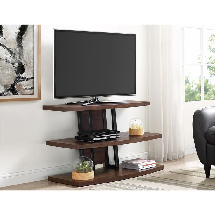Altra Castling Espresso/ Black TV Stand for TVs up to 55 inches (TV stand, espresso/ black)