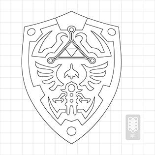 Hylian Shield Blueprint