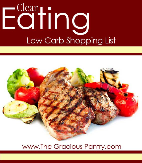 Clean Eating Low Carb Shopping List #lowcarb #cleaneating