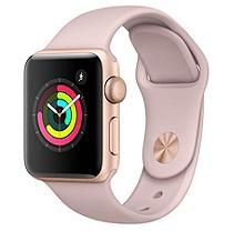 Apple Watch Series 3 38MM Gold Aluminum Case with Pink Sand Sport Band (GPS)