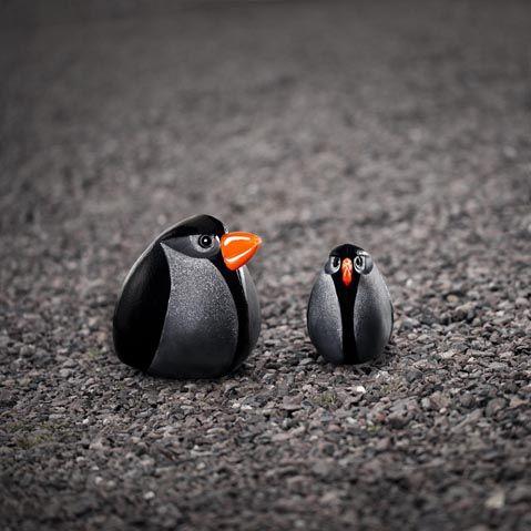 "Mouthblown birds ""Bullet"" in black crystal handmade at Målerås Glassworks. Design Mats Jonasson"