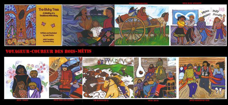 I Métis (Bois-brûlés) discendono dalle unioni tra i nativi (Cree, Ojibway, Saulteaux, e Menominee) e persone di origine europea, principalmente Coureurs des bois o Voyageurs franco-canadesi. Straordinaria è la cultura Métis nata dall' incrocio tra gli usi Cree e quelli francesi nella zona del Red River (Manitoba). In questa zona nacque anche un particolare idioma il Michif o Métchif che combina il Plains Cree (dialetto occidentale Cree) e il Metis francese (varietà francese  del Canada).