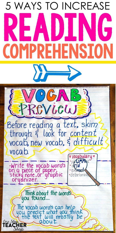 5 Ways To Increase Reading Comprehension Reading Comprehension Reading Strategies Posters Reading Comprehension Ks2 How to teach reading comprehension ks2