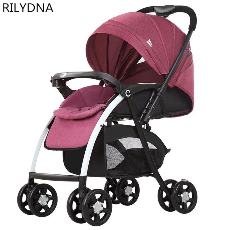 367.08$  Buy now - http://ali275.worldwells.pw/go.php?t=32755244371 - Hot Brand New Baby Stroller Bekerhouder Pushchair Lightweight Infant Stroller Prams 3 In 1 Folding Umbrella Carrinho Kid's Love 367.08$