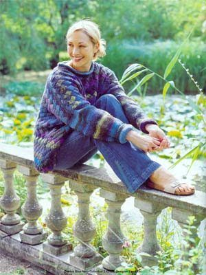 Debbie Bliss Noro SoW - Entrelac Sweater - FREE pattern Knitting Fever Kn...