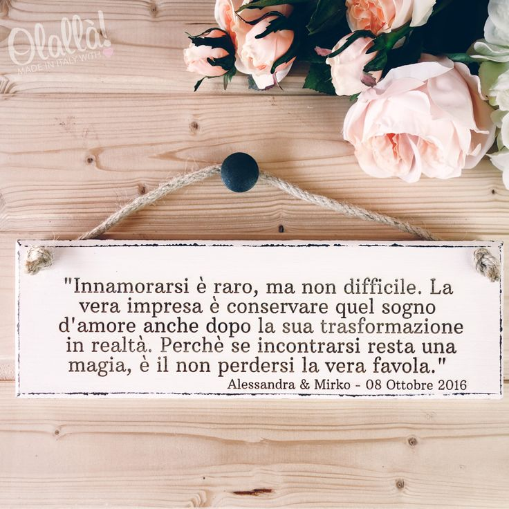 Targhette con Frasi sul Matrimonio   Olalla