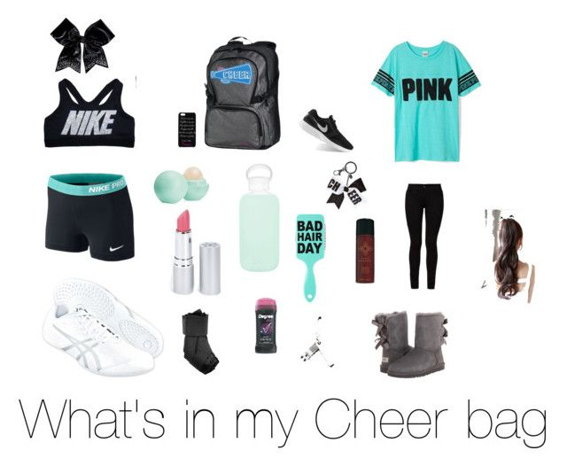 """What's in my Cheer bag"" by sophia-love16 on Polyvore featuring NIKE, Barbara I Gongini, Chassè, Asics, Eos, bkr, HoneyBee Gardens, Serge Normant and UGG Australia"