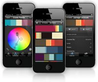 Color schemer website, gives tons of different color schemes. I use it for presentation theme ideas at work... and also have it on my iTouch to use for play!