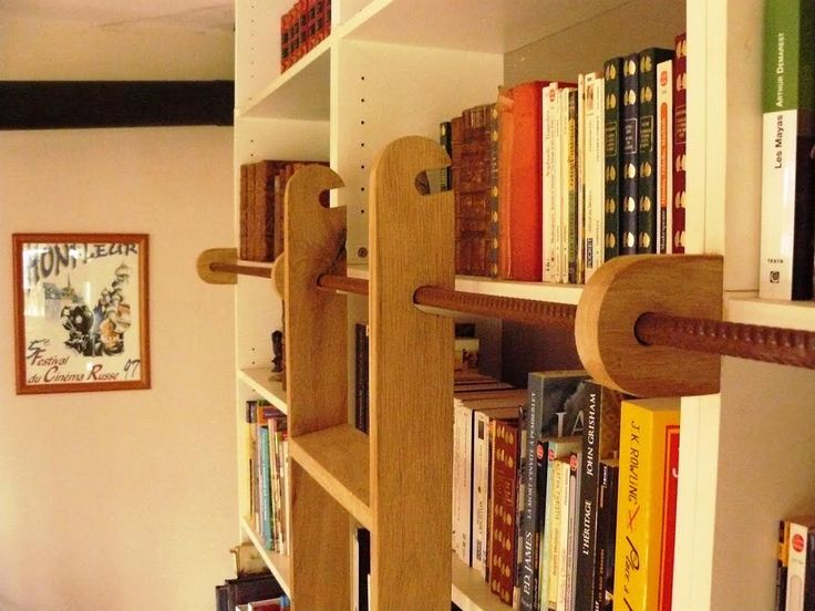 Les 25 meilleures id es de la cat gorie echelle bibliotheque sur pinterest - Echelle bibliotheque coulissante ...