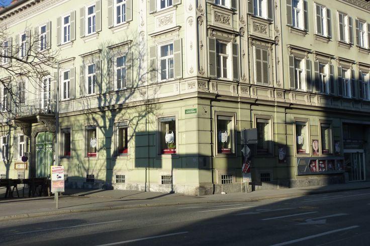 Geidorfplatz 2/Ecke Heinrichstraße: früher eine Filiale der Steiermärkischen Bank, bevor sie mit der Sparkasse fusioniert wurde.