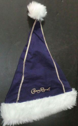 Crown Royal Whisky Purple Plush Santa Hat Cap New | eBay