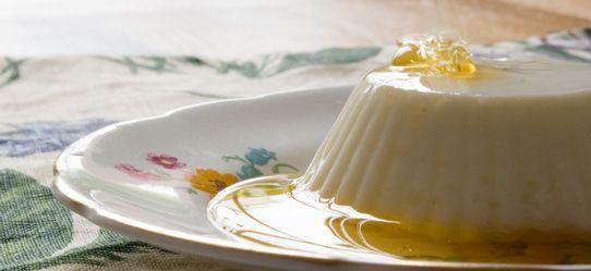 Πανακότα διαίτης με μέλι