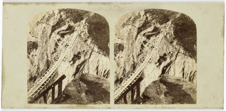 Hanging Bridge, Carrick-a-Rede, County of Antrim, William England, The London Stereoscopic Company, 1858