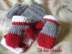 Mitaines  crochet  foulard crochet