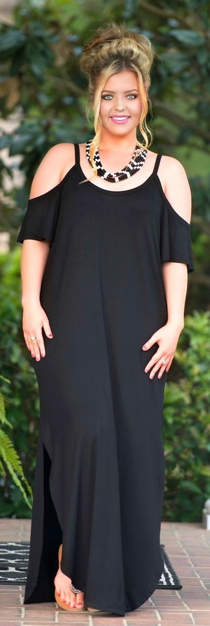 Barefoot In The Meadow Maxi - Black - Perfectly Priscilla Boutique