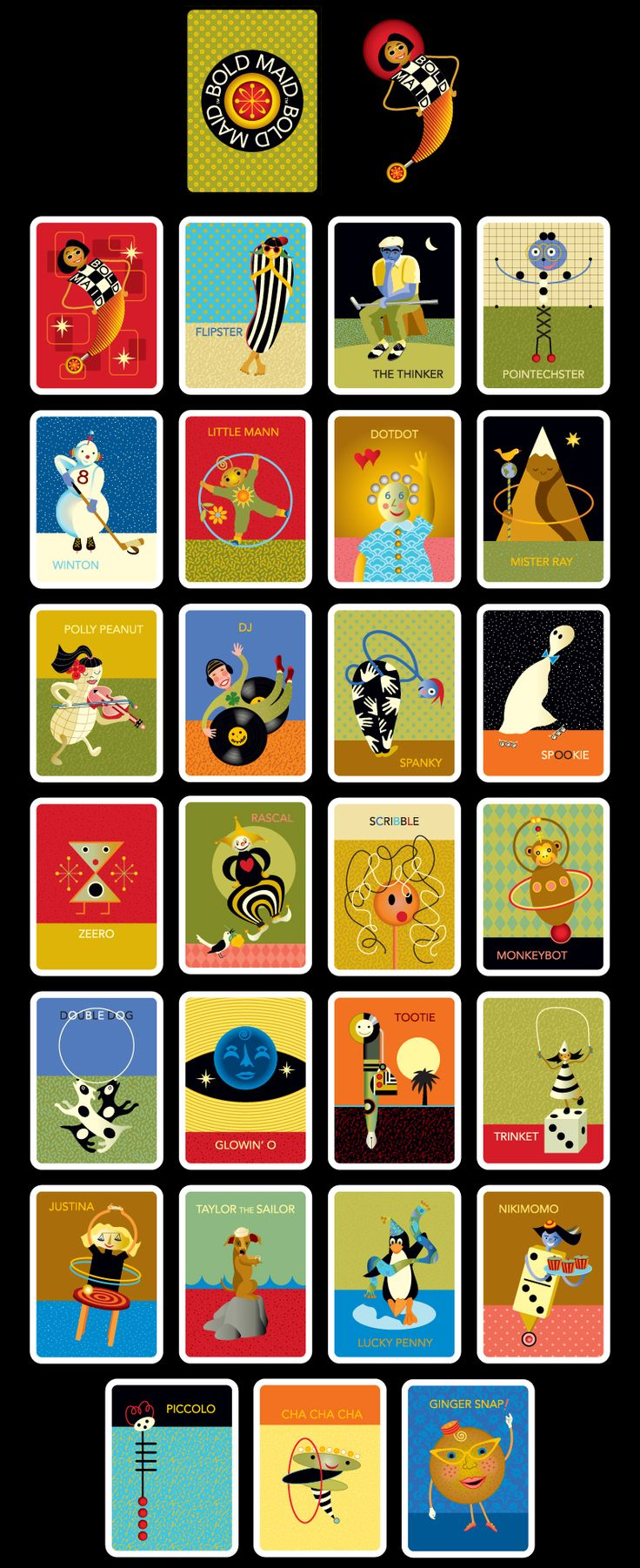 Bold Maid cards as an alternative to the Old Maid card game!