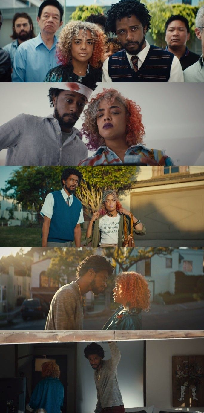Lakeith Stanfield And Tessa Thompson As Cassius Cash Green