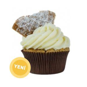 doğum günü cupcake siparişi, çikolata parçacıklı muzlu çilekli ve waffle parçalı cupcake, very cupcake Waffle