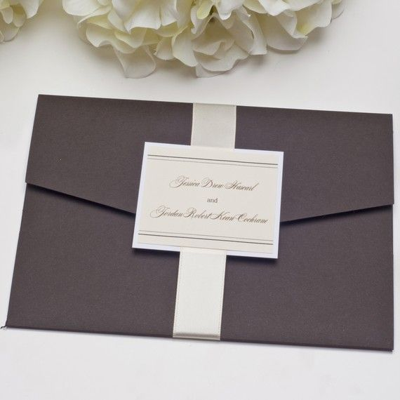 Die heiße Schokolade Pocketfold Einladung Hochzeitssuite auf Etsy, 3,78€