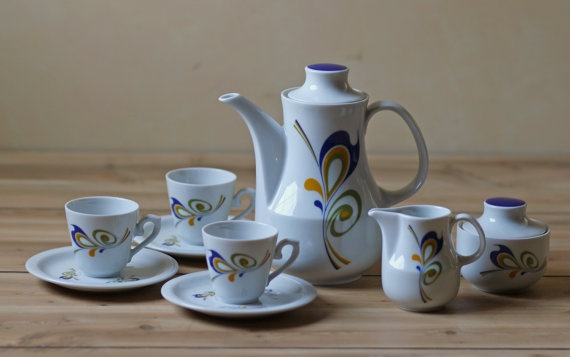 9 pc Winterling porcelain tea set Germany by ModishVintage on Etsy, $84.00