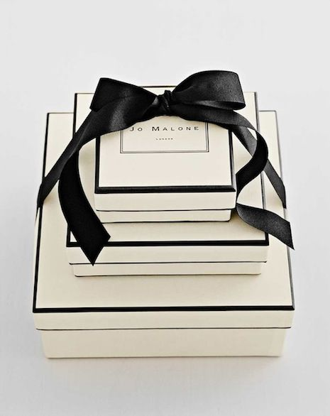 Idea for a sleek and elegant card box.  Jo Malone pretty packaging - the luxury candle in orange blossom.