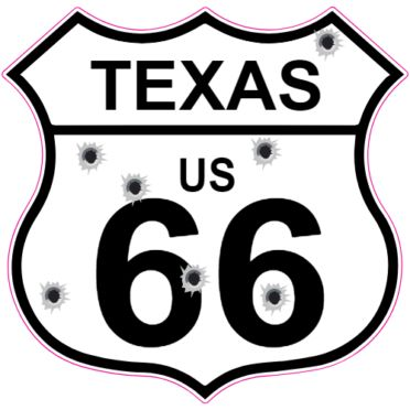 Get this Texas Route 66 Bullet Hole Road Sign Sticker online at the U.S. Custom Stickers Decal Store. Shop for high quality stickers at cheap prices. Buy here.