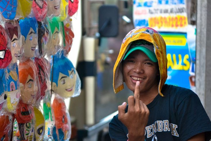 Street photography at the Masskara festival in Bacolod