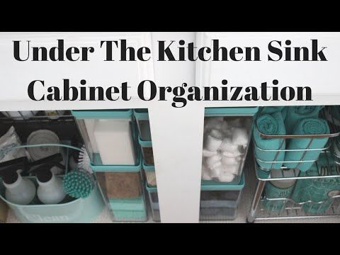 How to Organize Under the Kitchen Sink