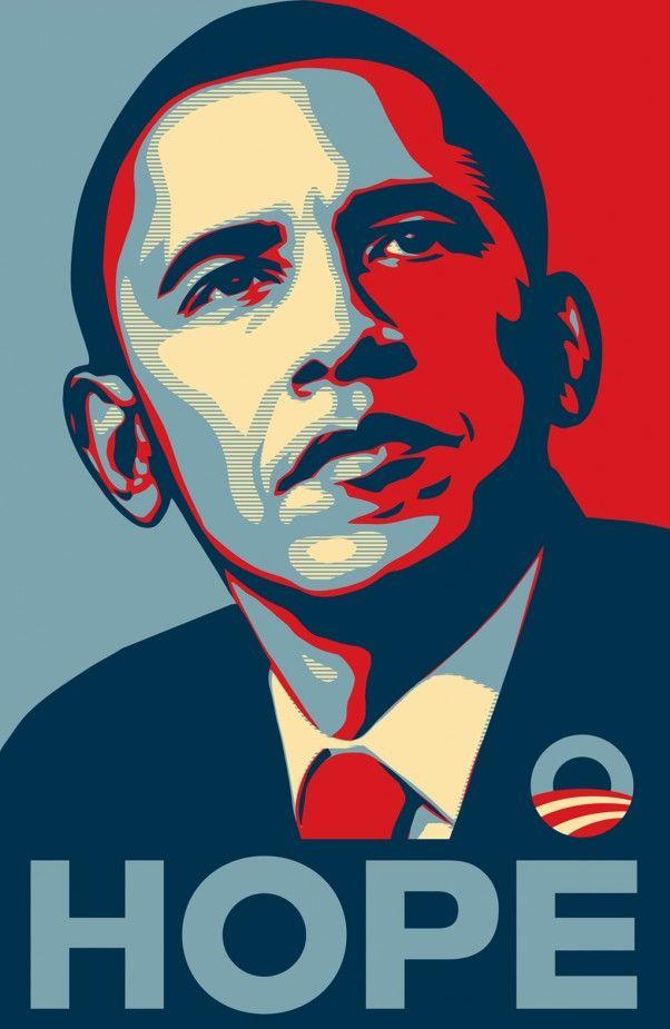 Barak Obama election campaign photo.