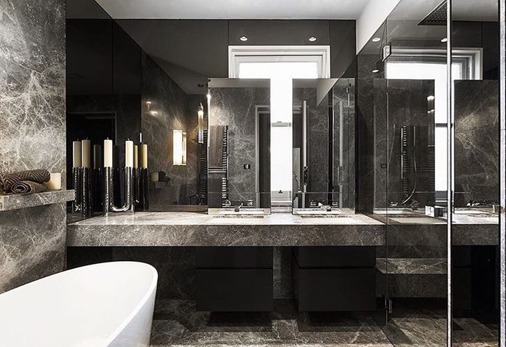 """143 Likes, 4 Comments - CDK Stone (@cdkstone) on Instagram: """"This Portsea Grey Marble bathroom exudes luxury  Designed by @bagnatoarchitects and built by…"""""""