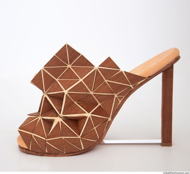 'Woodhide geometries', laser cut wood on leather, A collection of 4 pairs  of shoes by Tineke Gysel. Third year Academy of Fine Arts in Sint-Niklaas  Belgium ...