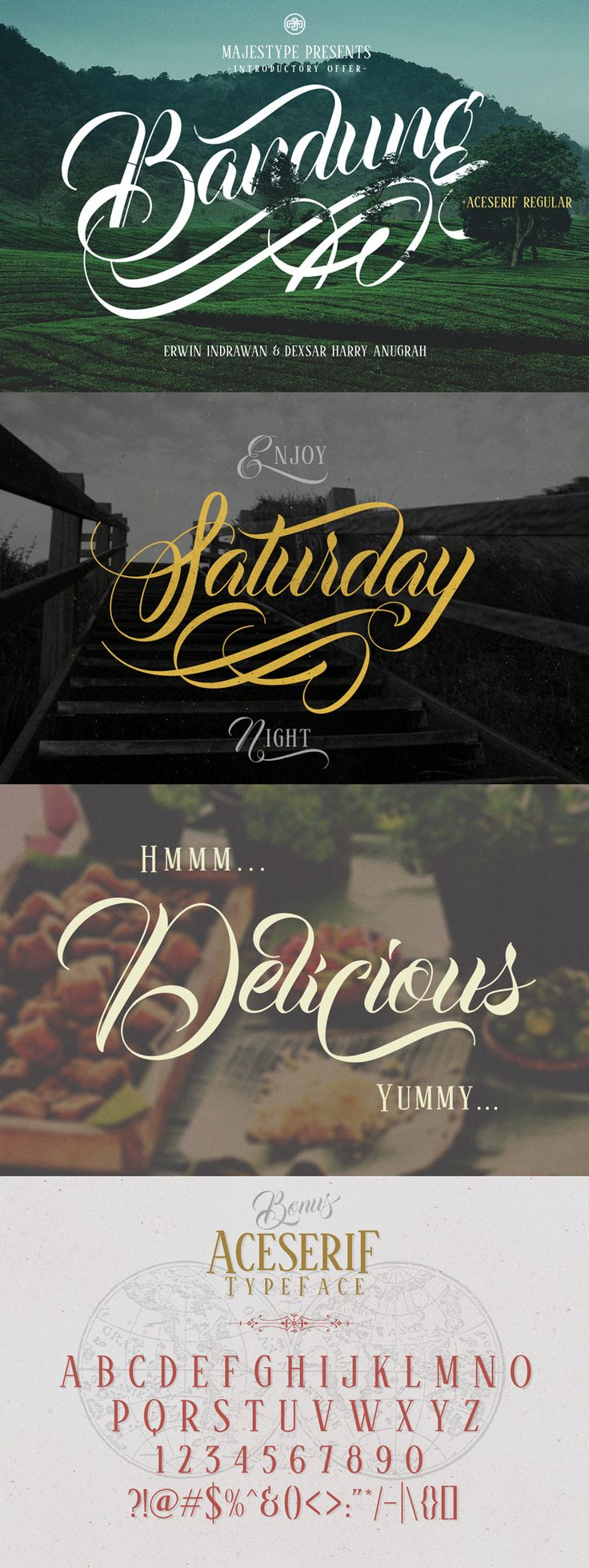 cursive fonts for wedding cards%0A Bandung from Majestype was made to capture the natural movement of a brush  script infused with