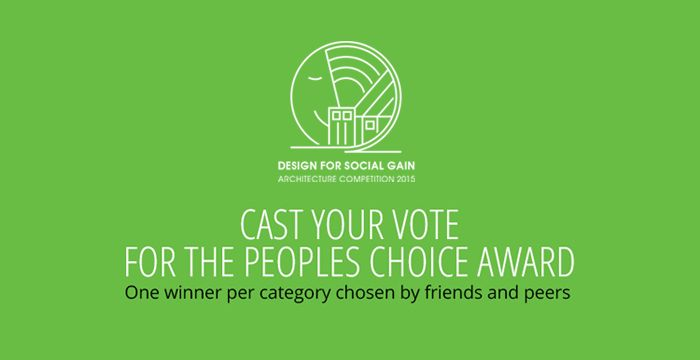 Cast your vote for the Peoples Choice Award in the Saint-Gobain Architecture for Social Gain Awards Competition.