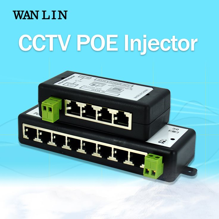 WANLIN 4CH 8CH PoE Injector for Surveillance POE IP Camera Wifi AP VoIP Power Over Ethernet IEEE802.3af/at Power Adapter