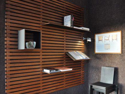 """Lamel"" shelf.   #furnish #interior #design #wood http://www.kjeldtoft.com/"