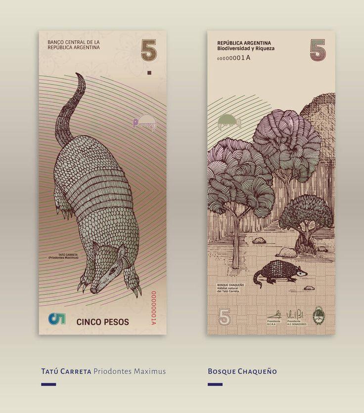 Beautiful Redesign of the Argentinean Bills – Fubiz Media