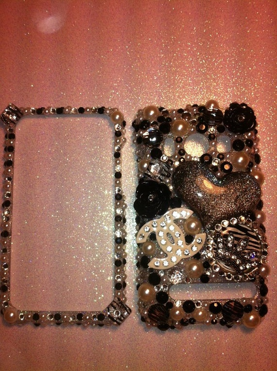 Blinged out cell phone cases for all cell by KatiesBlinginThings, $45 ...