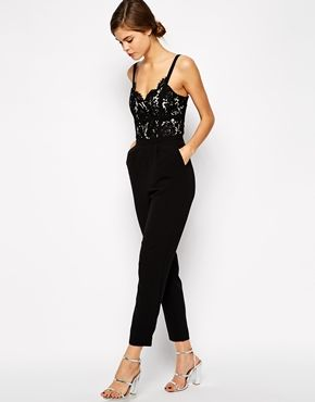LOVE this Warehouse Lace Bodice Jumpsuit. Perfect for NYE or romantic dinner. Maybe even holiday party?
