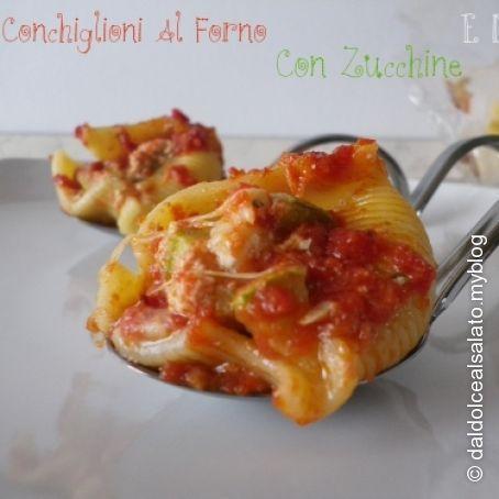 #Conchiglioni ripieni di #zucchine e #mozzarella #primo #pasta
