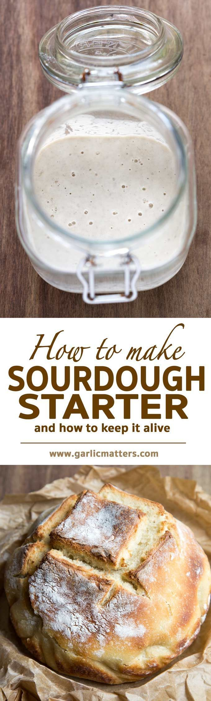 Learn how to make best sourdough starter with wild yeast for the most delicious sourdough bread. Step by step instructions with pictures, problem solving and full guidance. It is easier than you think! http://PERXFOOD.COM
