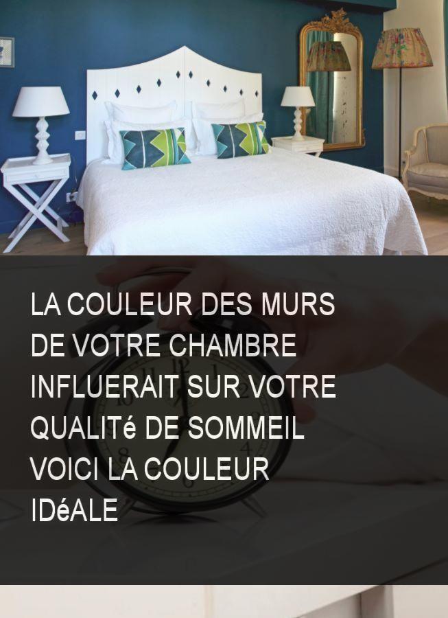 La couleur des murs de votre chambre influerait sur votre qualité de