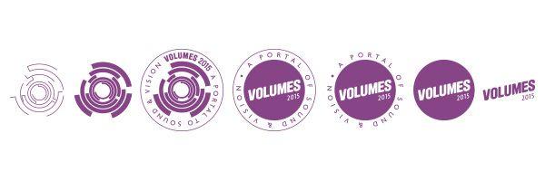 Logo deconstruction for VOLUMES 2015 Music Festival, Sydney.