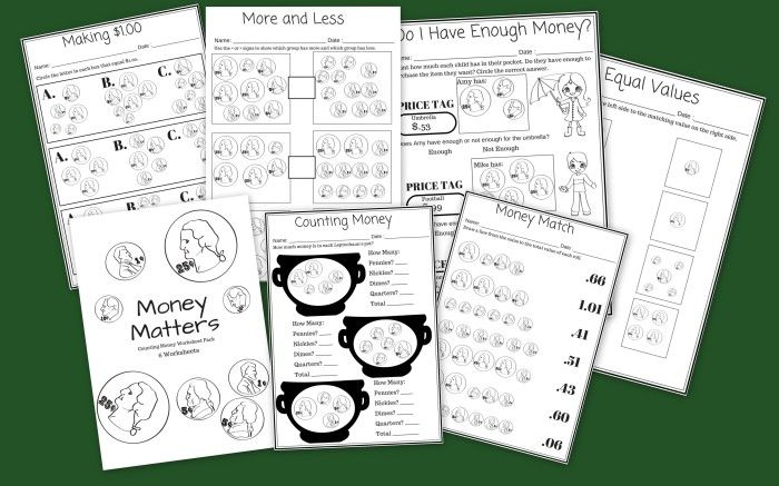 Money Matters 6 Free Printable Money Counting Worksheets