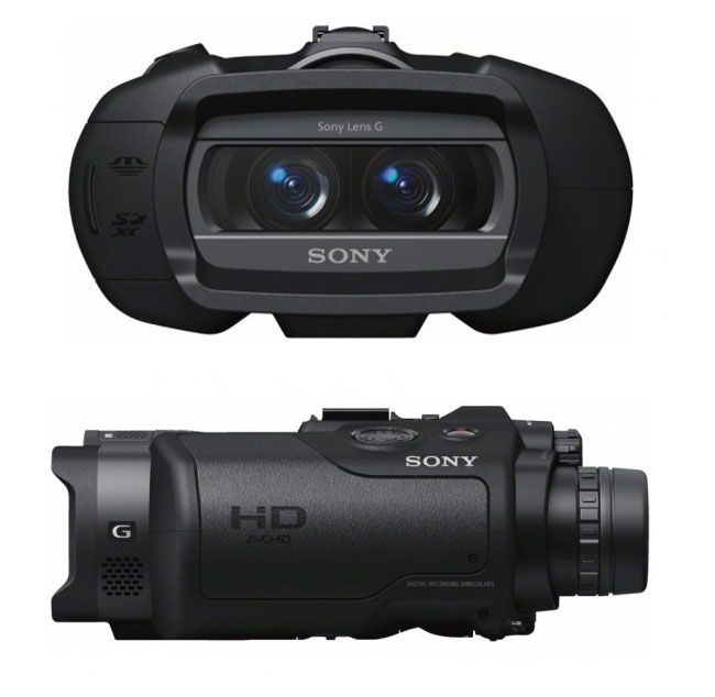 Sony Digital Recording Binoculars |  Full HD 1920 x 1080 resolution video in 2D or 3D—plus 7.1MP stills. With a 10x zoom for  wildlife watching or sporting events. These binoculars offers continuous auto focus while zooming so your videos won't be blurry. | A very nice piece of equipment for those who want a camcorder, camera, and binoculars in one.