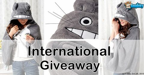 Cospicky Totoro Cape Giveaway Join the giveaway via below link: http://bit.ly/1iA7FT8
